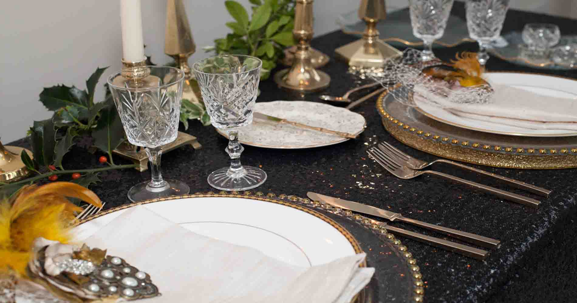 Vintage Gold China Sequin