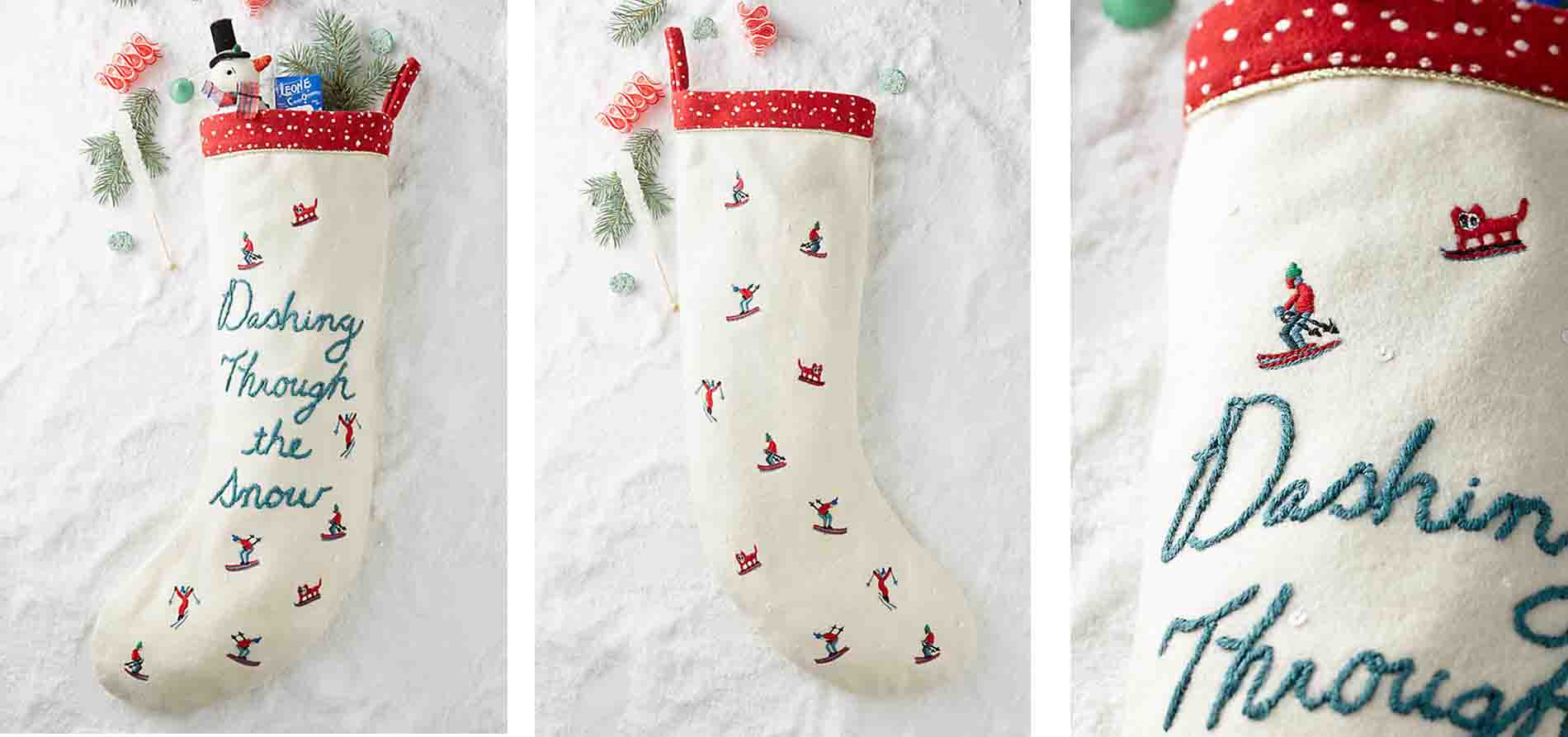Anthropologies Dashing Stocking