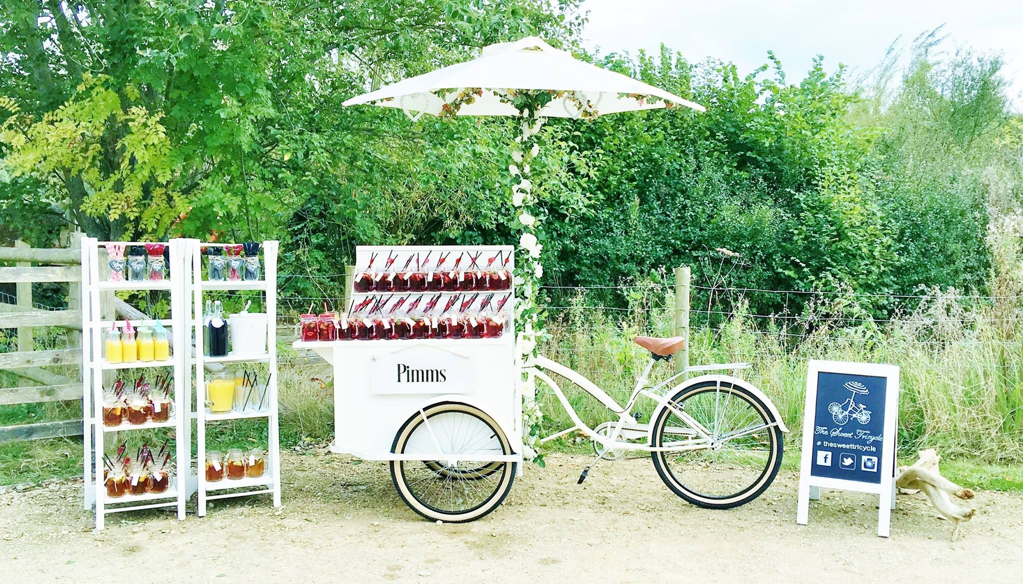 The Sweet Tricycle Pimms Set Up