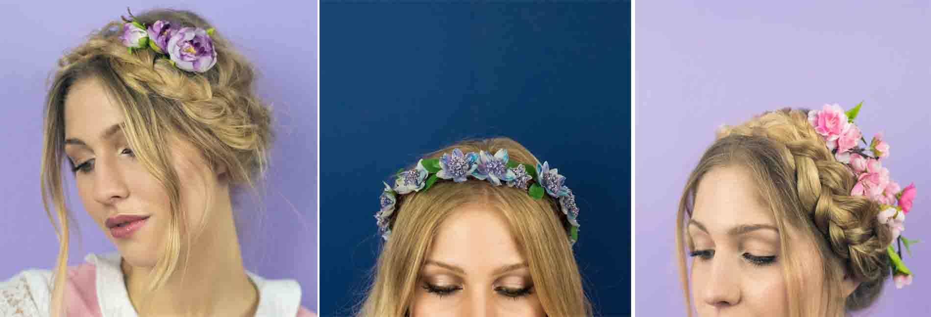 Crown And Glory Floral Head Pieces