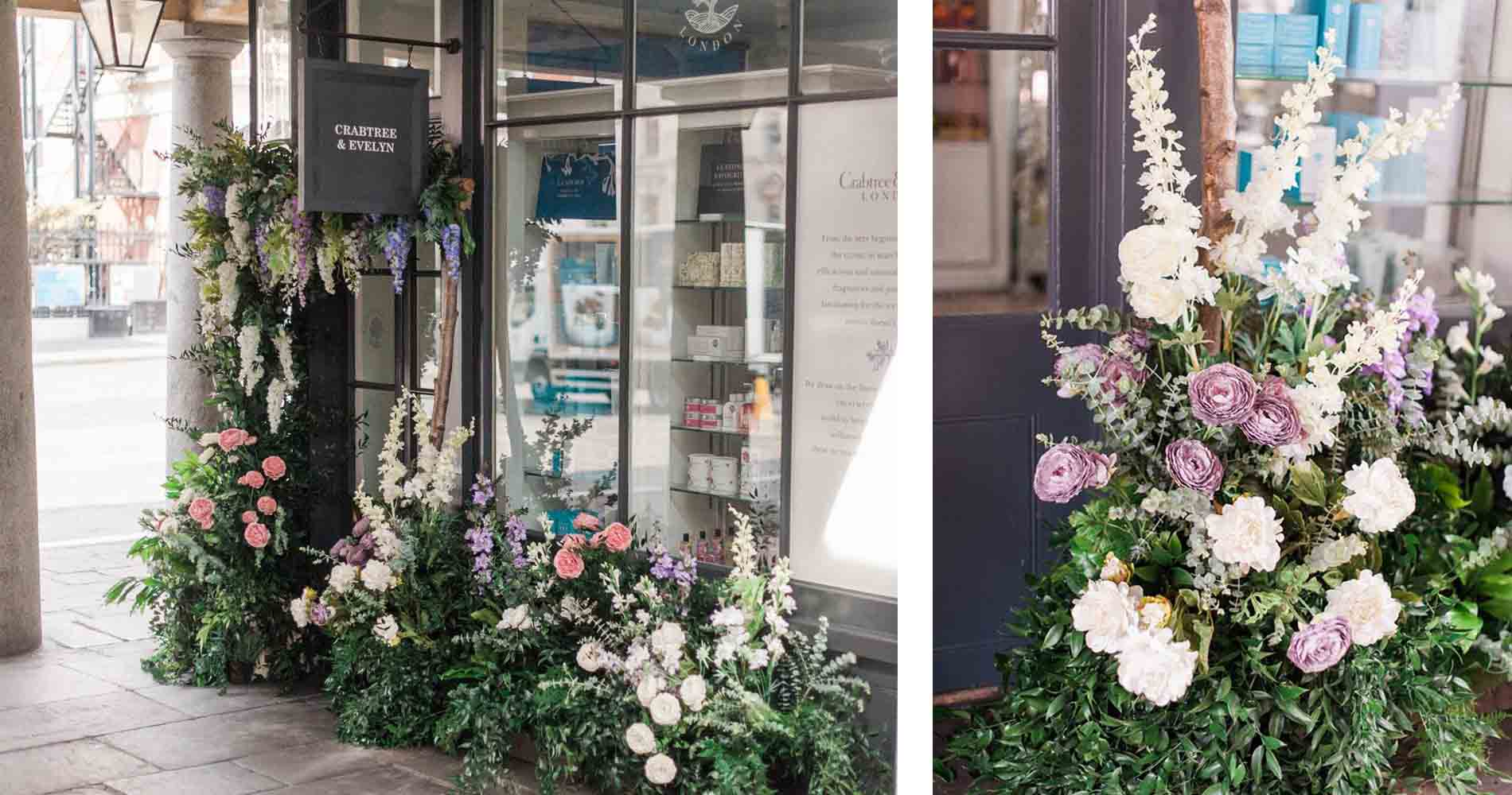 Crabtree Evelyn Floral Install