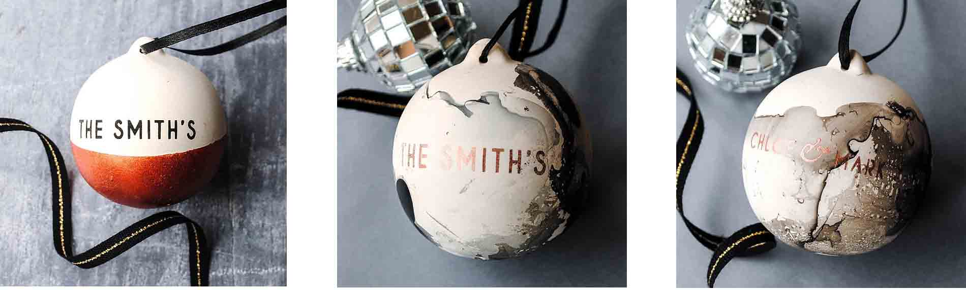 Thebridge And Taylor Personalised Baubles
