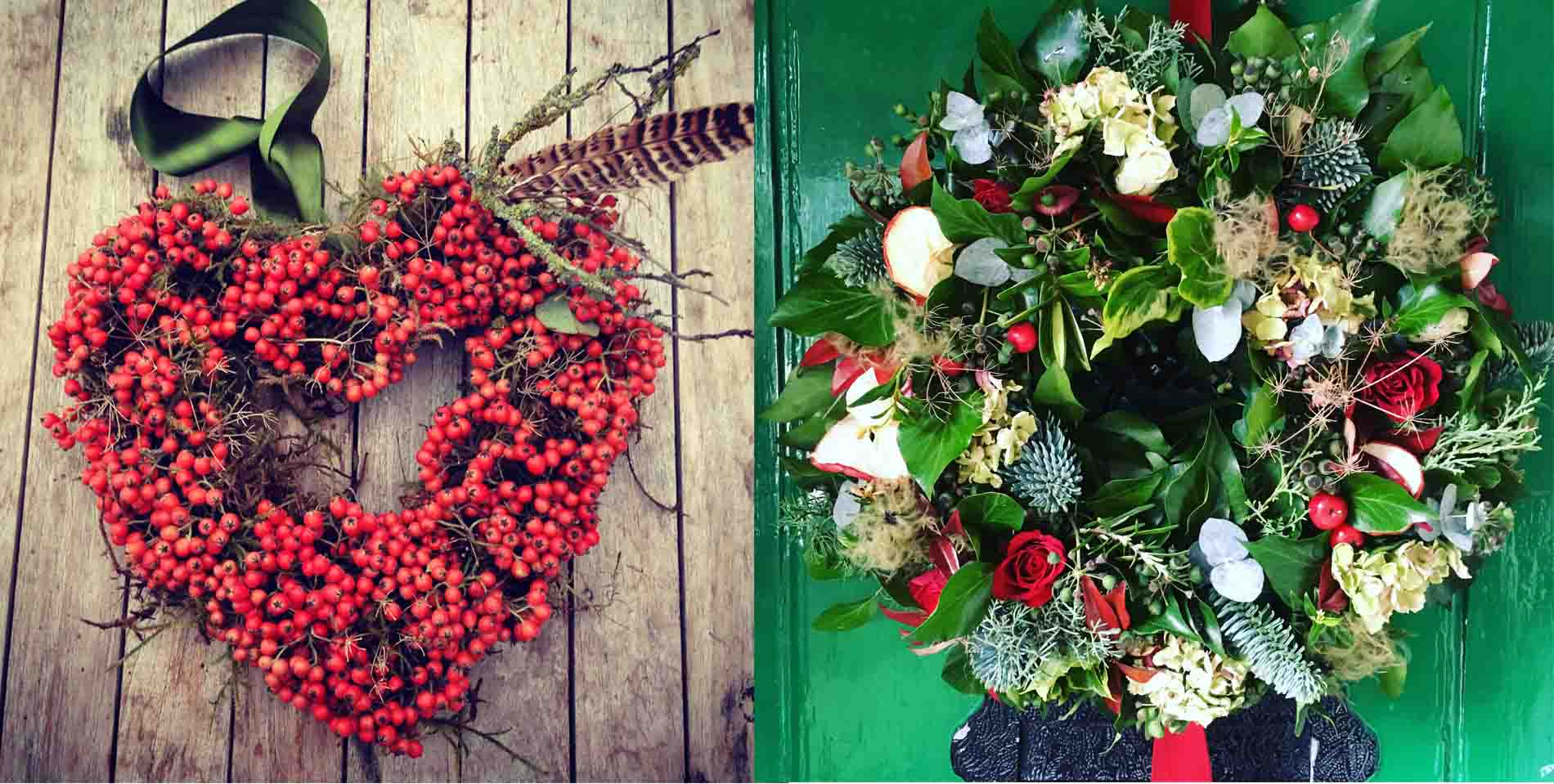 Foxgloves And Roses Wreath
