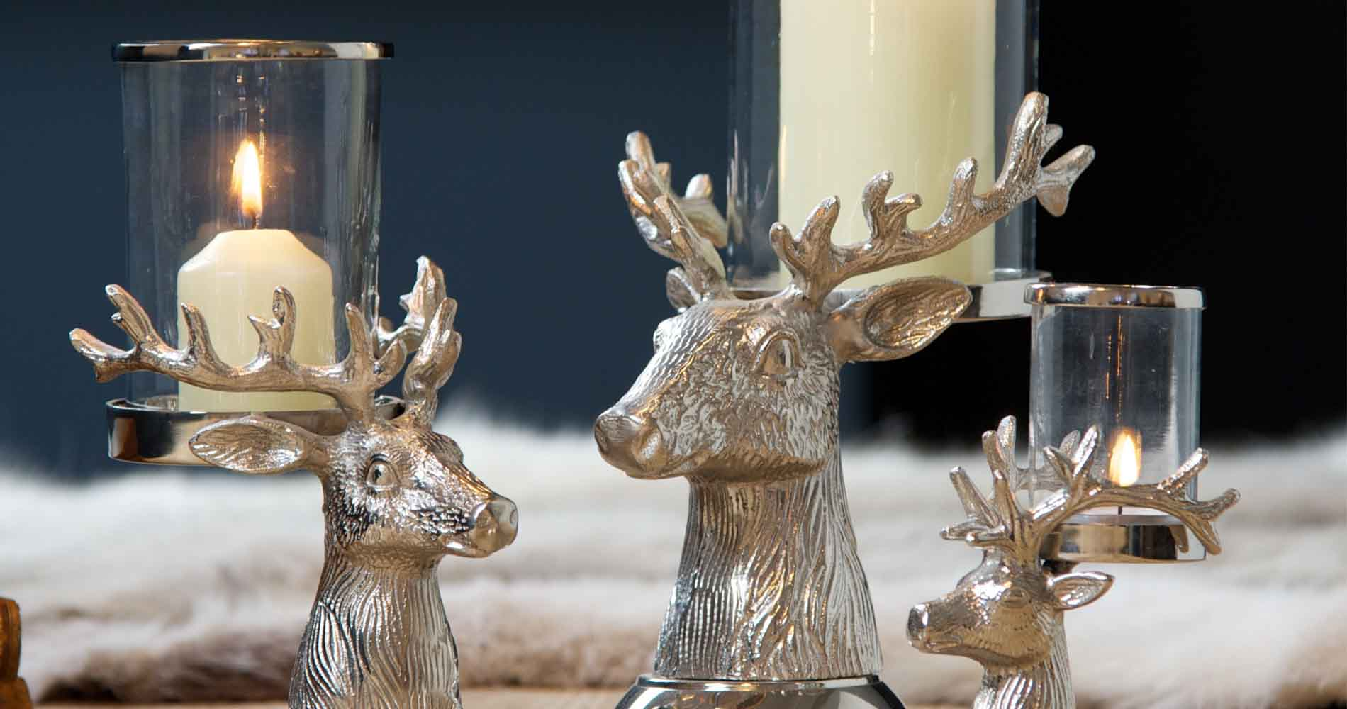 Culinary Concepts Stag Head Candle Holders