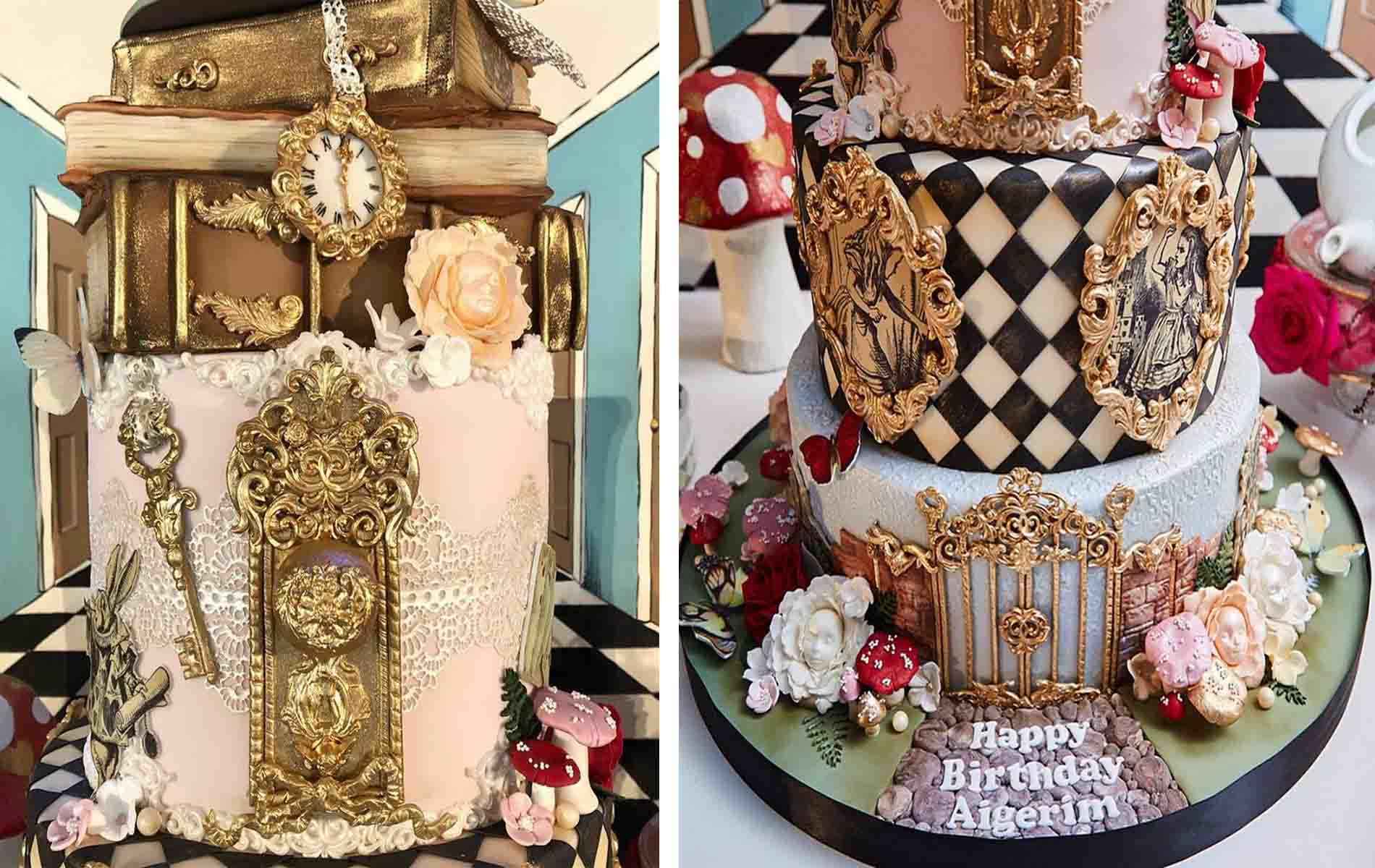 Alice In Wonderland Cake And Dessert Table