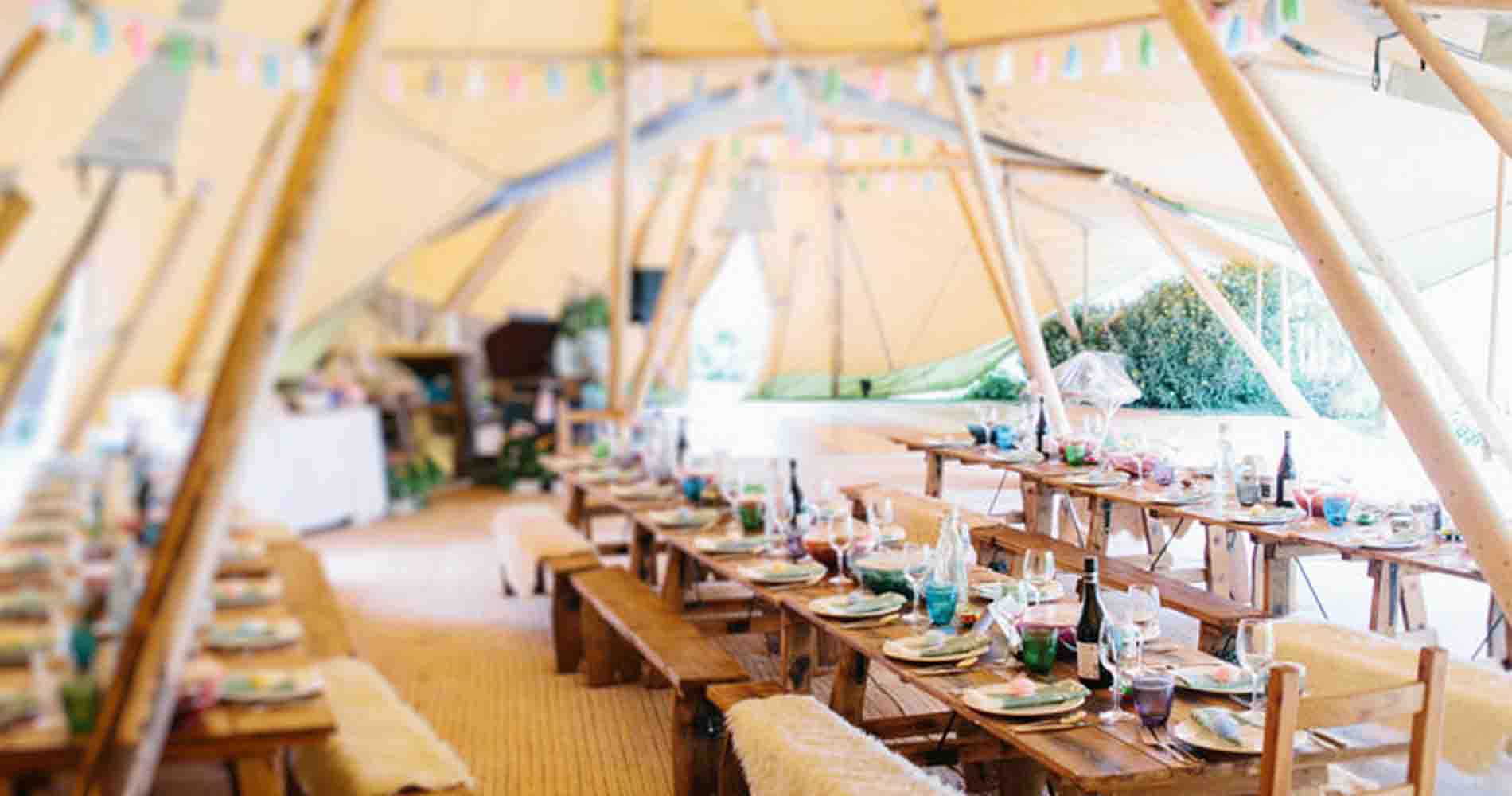 Events Under Canvas Interior