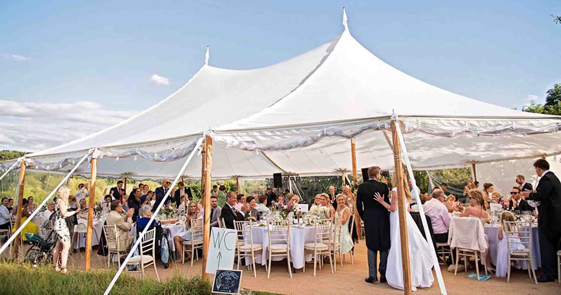 Events Under Canvas Sailcloth Tipi Wedding