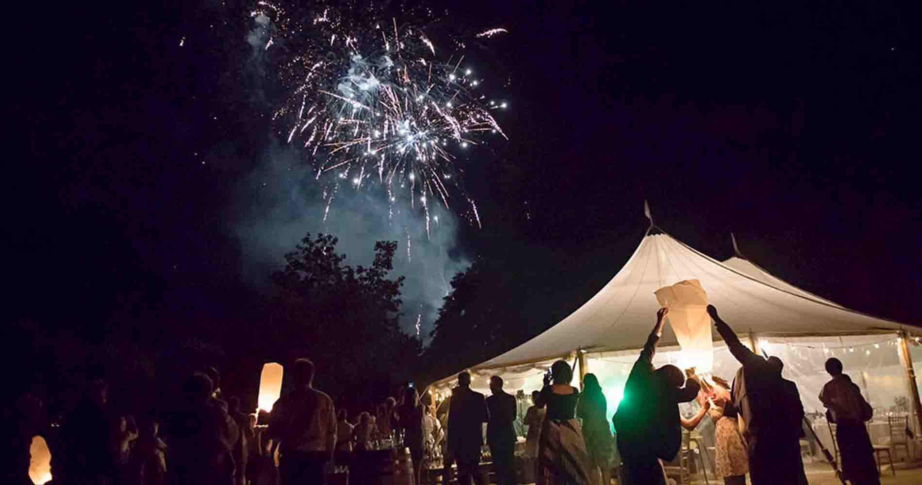 Events Under Canvas Tipi Fireworks