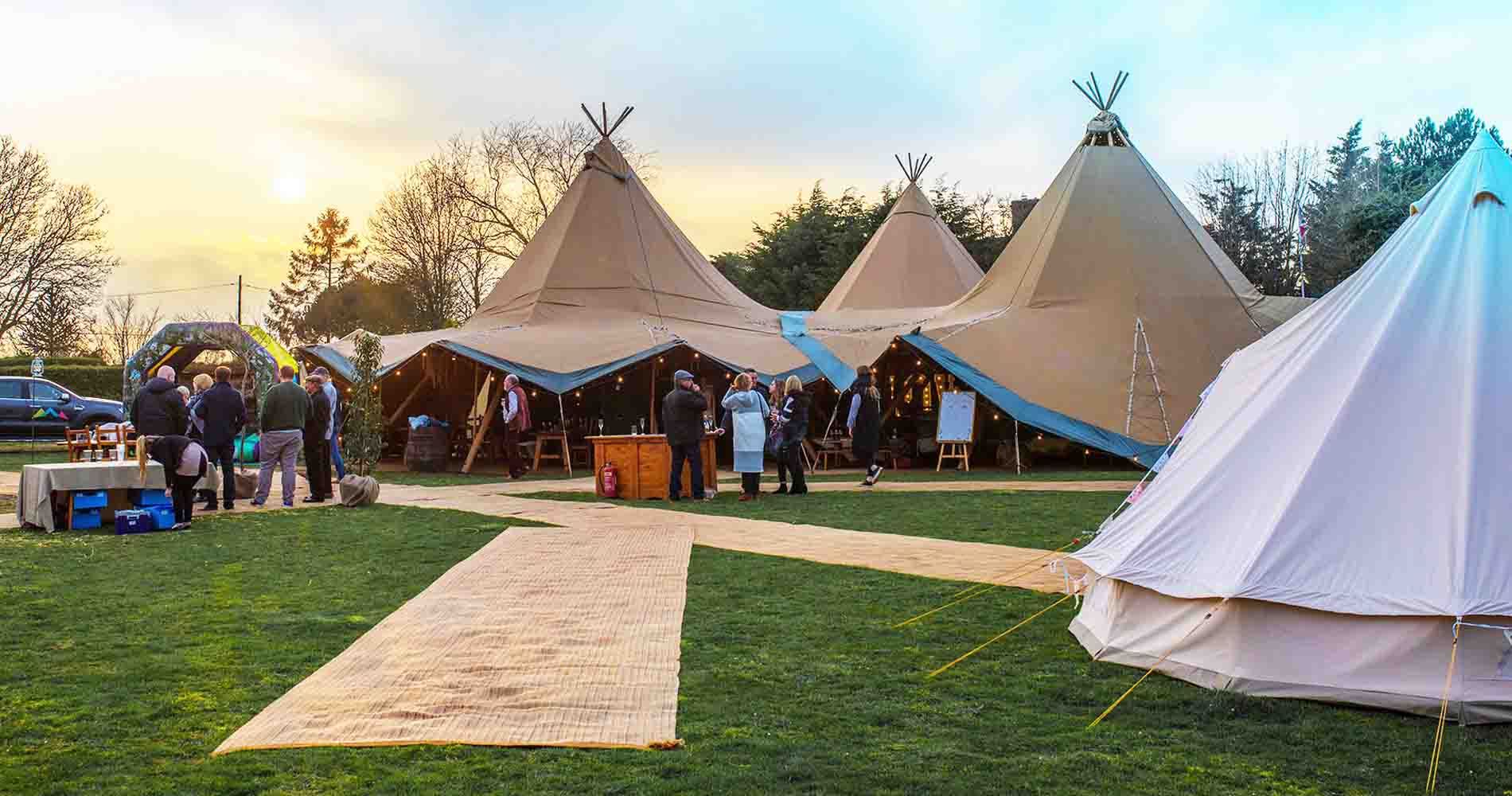 Events Under Canvas Tipis Twilight