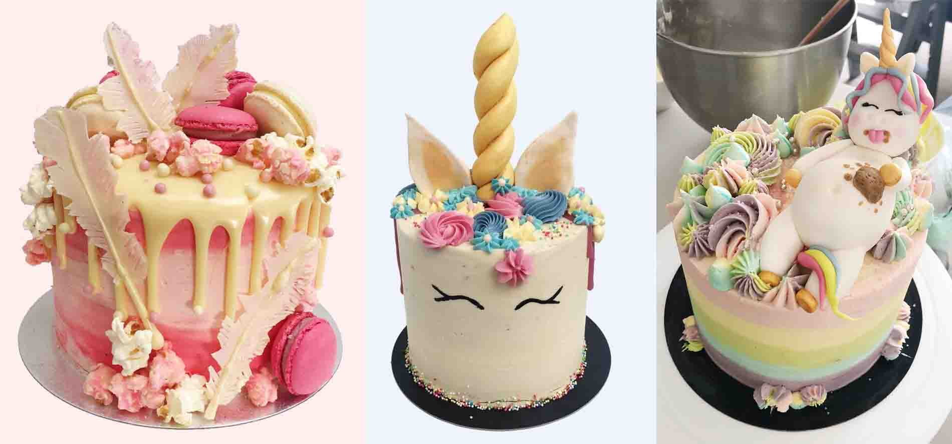 Fat Unicorn Pink Flamingo And Unicorn Cake