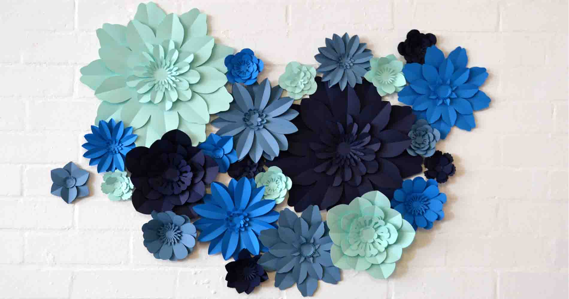 Blue Flower Wall