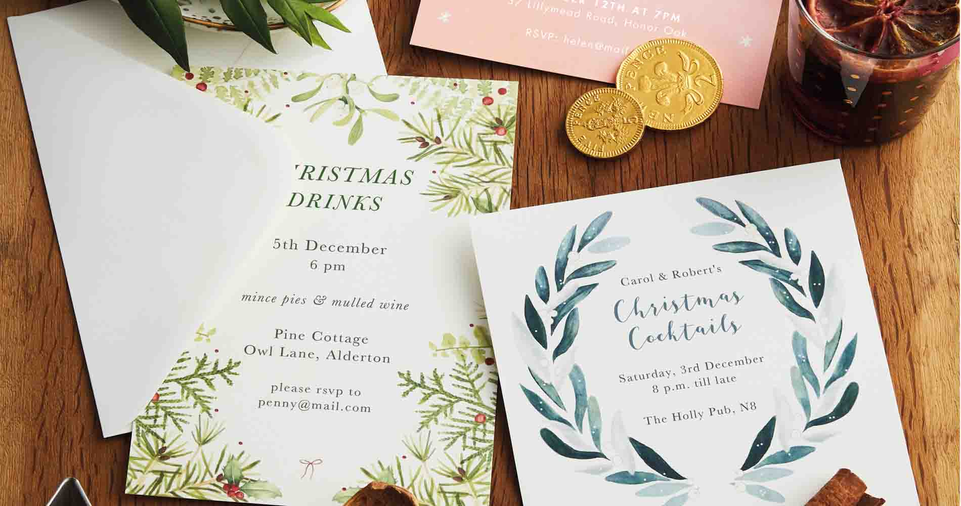 Papier Christmas Invitations