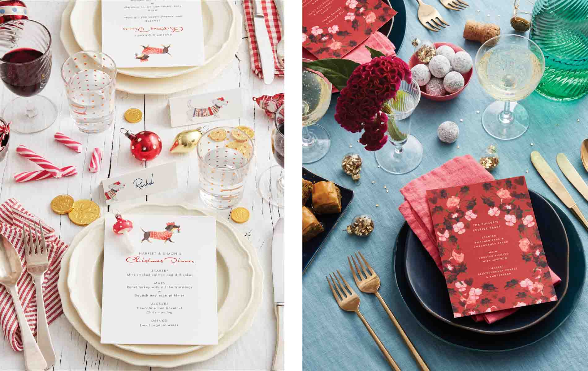 Papier Christmas Table Setting 2018